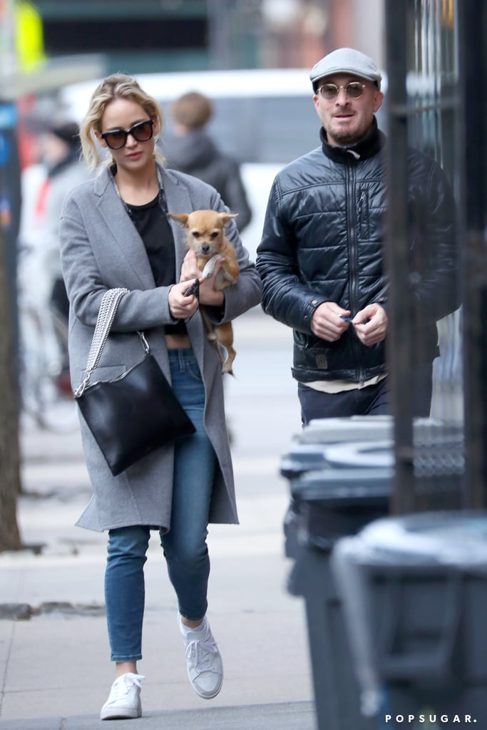 "Jennifer Lawrence and Darren Aronofsky still seem to be on good terms despite their recent split. On Wednesday, the former couple was spotted taking a stroll through NYC with Jennifer's dog, Pippi. Jennifer and Darren appeared to be in good spirits, and at one point, the 48-year-old director even flashed a smile at Jennifer. According to E! News, ""They are not officially back together but are spending time together again. They never stopped speaking after they broke up. They care about each other. They are just seeing what happens."" While the reason for their breakup still remains unclear, Jennifer briefly opened up about their relationship and Mother!, the film that brought them together, when she sat down for an interview with Variety in November. ""Dating the director was different, because we'd be on the tour together. I'd come back to the hotel, and the last thing I want to talk about or think about is a movie,"" she explained. ""He comes back from the tour, and that's all he wants to talk about. I get it; it's his baby. He wrote it; he conceived it; he directed it. I was doing double duty trying to be supportive partner while also being like, 'Can I please, for the love of God, not think about Mother! for one second.'"" We guess only time will tell if these two have decided to give their relationship another shot.       Related:                                                                                                           5 Men Jennifer Lawrence Graciously Allowed Into Her Heart"