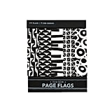 Add some flair to your book or organizer with these page flags with a film noir style ($5).