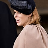 Princess Beatrice was all smiles on Christmas Day 2012.