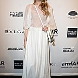 All white was Elsa's pick at the 2014 amfAR gala in NYC.