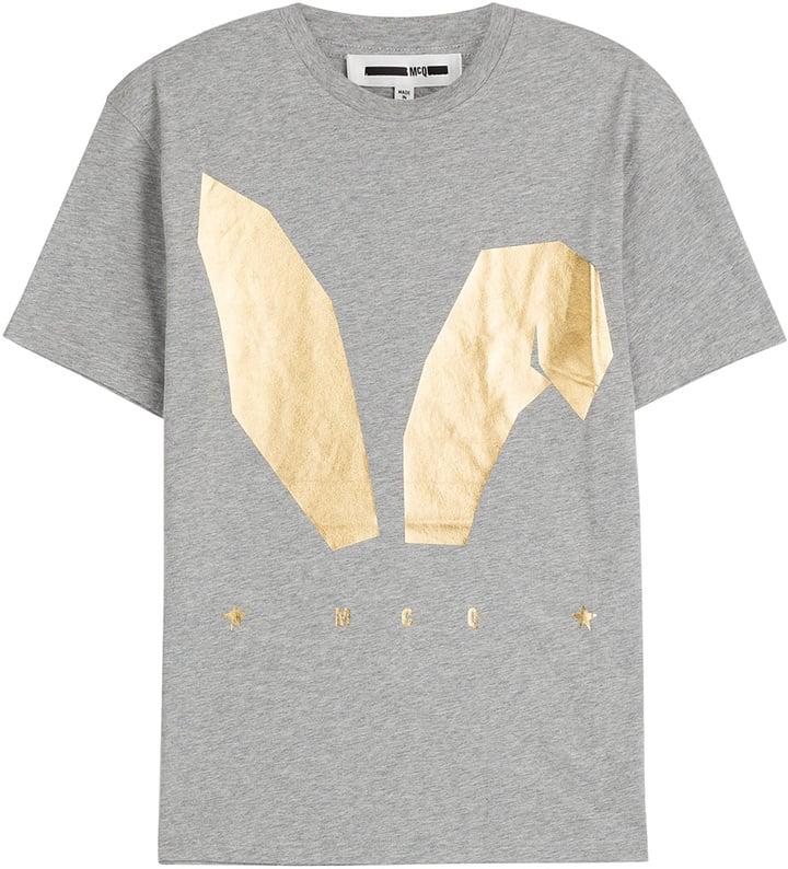 Alexander McQueen Printed Cotton T-Shirt ($165)