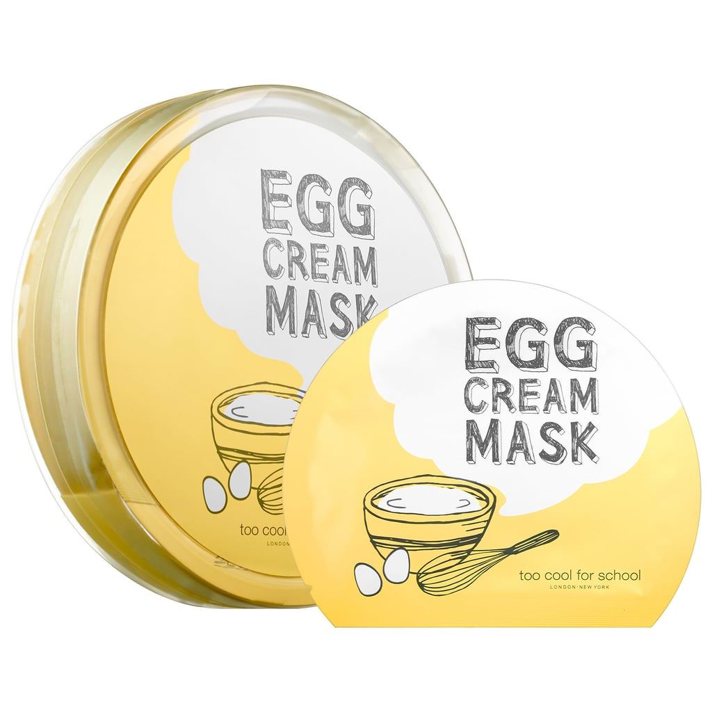 Best for: When you're trying (and failing) to become a morning person.   We know how hard it is to restructure your sleeping cycle — and the total havoc it can wreak on your skin. Try popping on a Too Cool For School Egg Cream Sheet Mask ($24 for five masks) as soon as you wake up — the formula infuses your exhausted complexion with a dose of radiance. The microfiber cloths are packed with egg yolks and whites, so you'll smell a little like an omelet, but your skin will look so great, you won't care.
