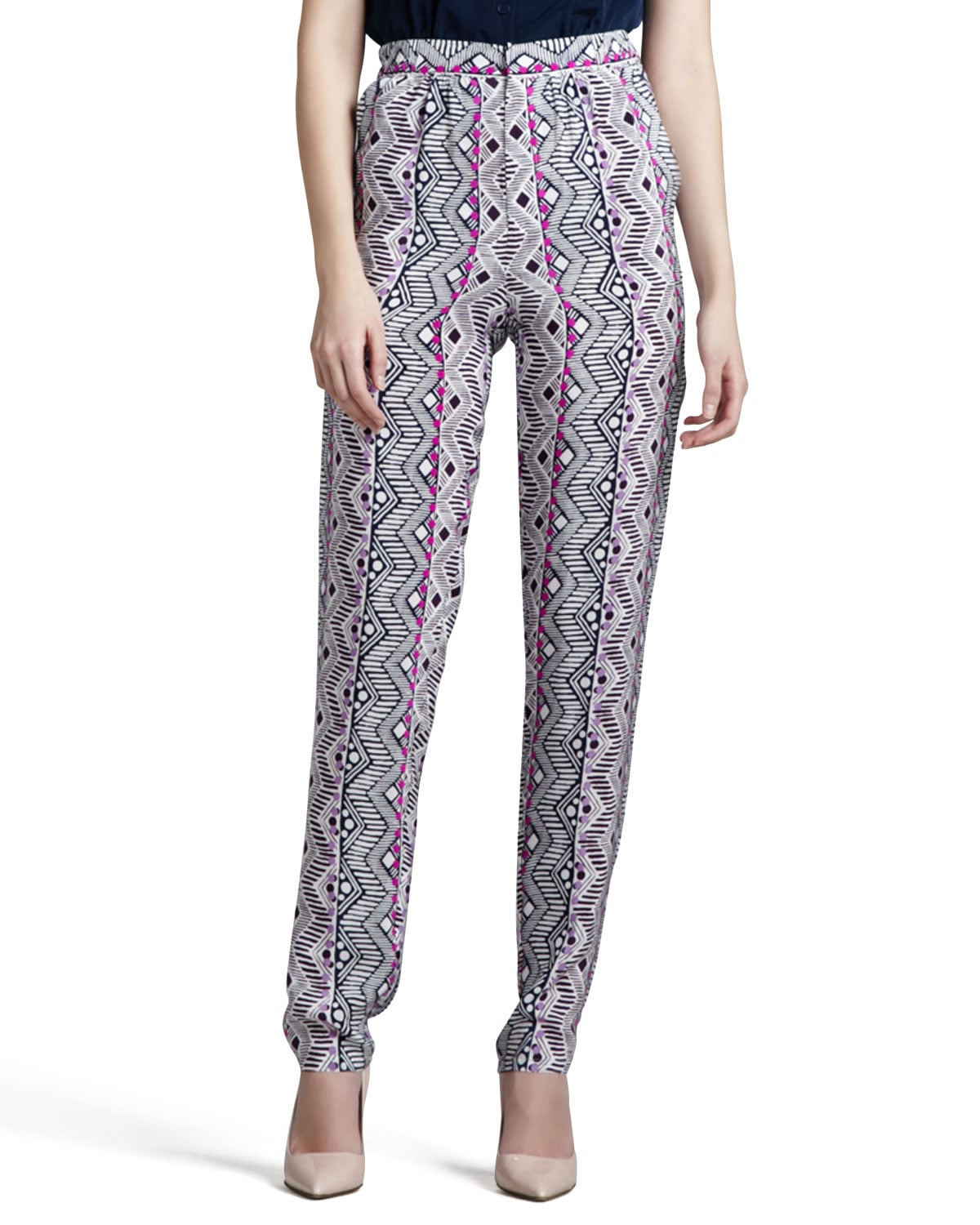Nanette Lepore Printed Tapered Pants