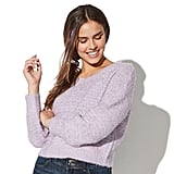 Vylette Puff Sleeve Crewneck Sweater