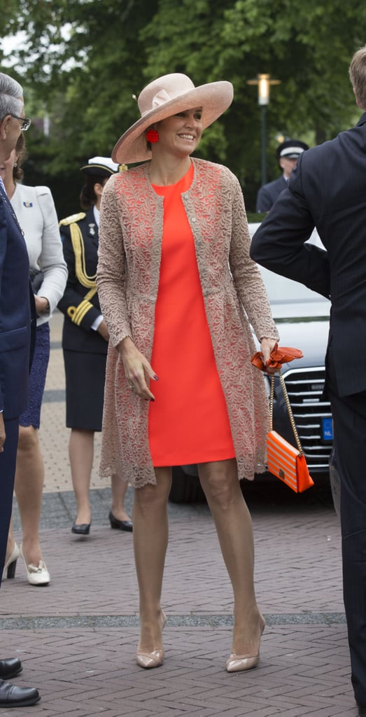 You Can Always Add a Lacy Layer Like Queen Maxima Did