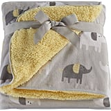 Just Born Elephant Velboa Blanket