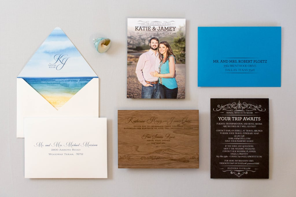Engraved Wood Invites