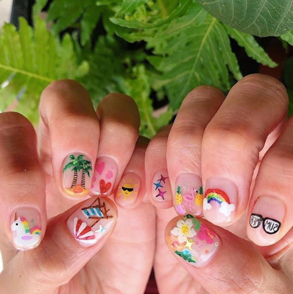 Negative Space Nail Art for Summer | POPSUGAR Beauty