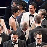 Matthew McConaughey chatted with Anne Hathaway.