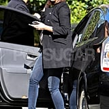 Emily Blunt arrived at LA's Four Seasons hotel.