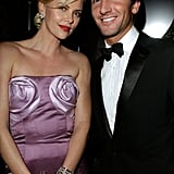 Charlize Theron and Olympic Gold Medalist Evan Lysacek
