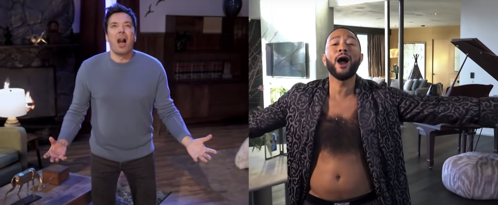 """Watch John Legend and Jimmy Fallon's """"March Again"""" Spoof"""