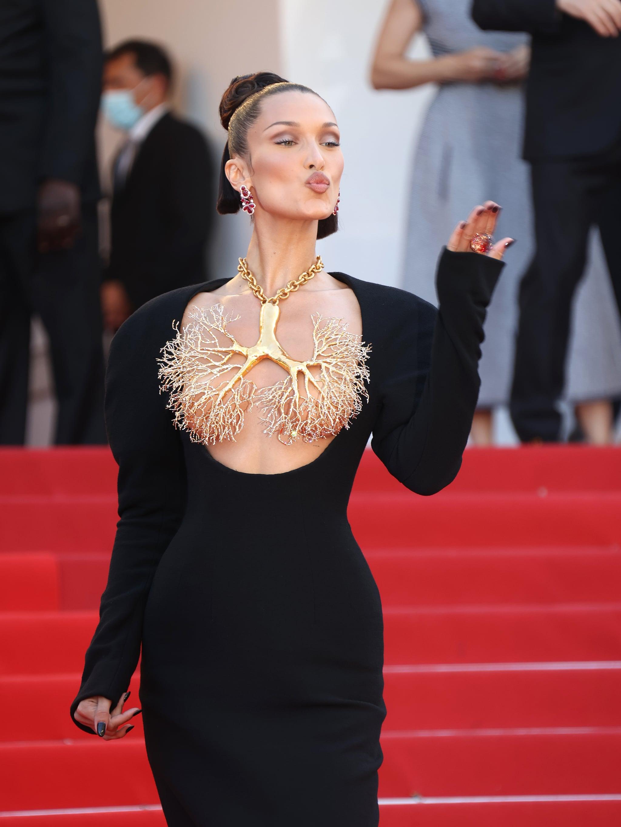 Bella Hadid Wears Sexy Schiaparelli Outfit at Cannes | POPSUGAR Fashion