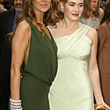 Celine Dion and Kate Winslet linked up on the red carpet.