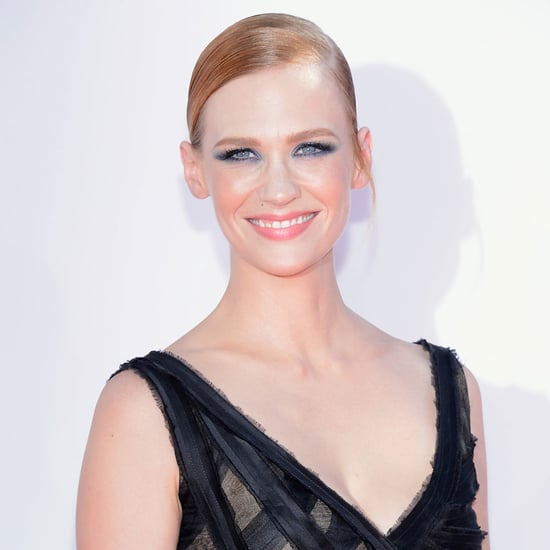 Picture of January Jones's Hair and Makeup at the 2012 Emmy Awards