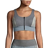 Michi Mist Zip-Front Colorblock Sports Bra