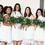 This bridal party in all white looked absolutely stunning!