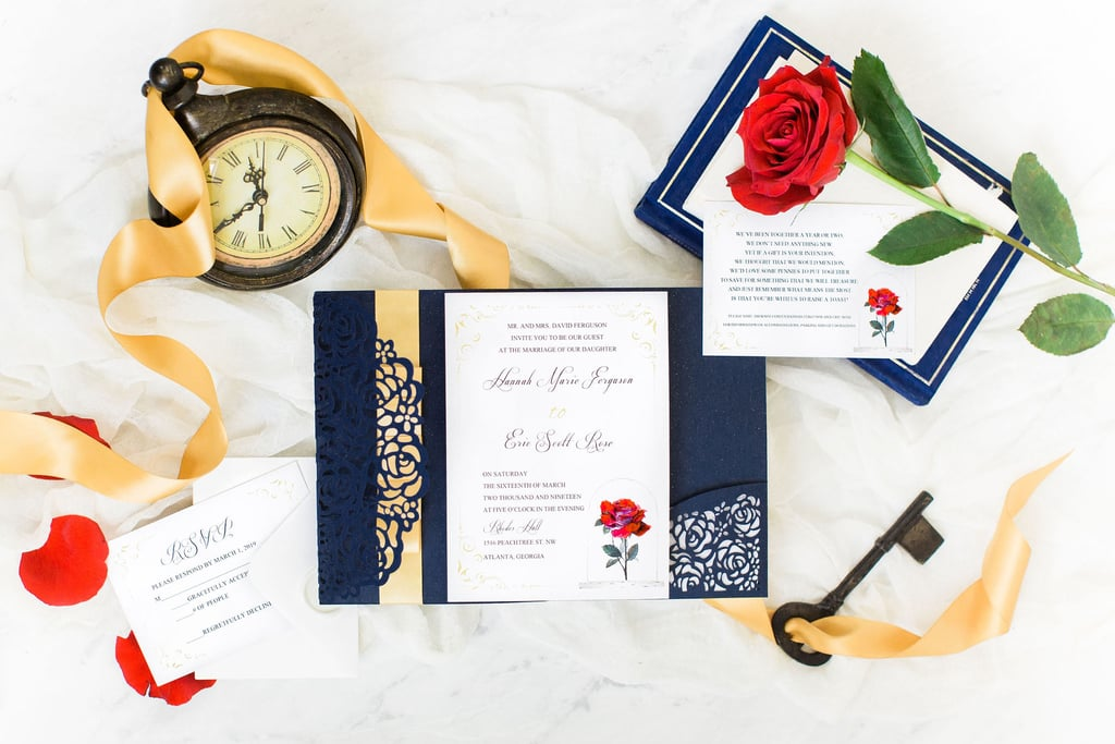 Roses Are Red, Belle Wears Blue, This Beauty and the Beast Wedding Is a Dream Come True