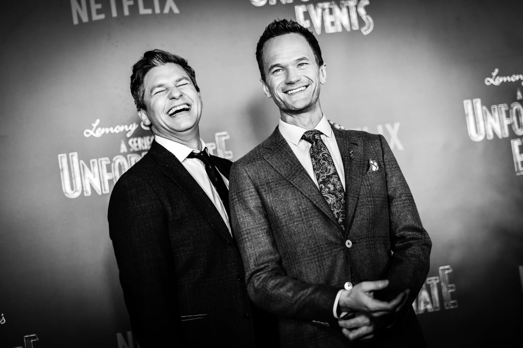 Whatever event Neil Patrick Harris and David Burtka are planning to attend, you know they'll show up looking adorable. A few days after killing it in a Broadway-themed riff-off with James Corden, Neil hit the red carpet with his husband for a screening of his new Netflix show, A Series of Unfortunate Events, in NYC on Wednesday. While it might not have been as fun as snow tubing down a mountain, the proud parents appeared to enjoy their kid-free date night, sharing a few laughs in front of photographers and chatting with Neil's costar Alfre Woodard. Hype around ASOUE is growing by the day, so hopefully we'll see more of these two on the red carpet soon.      Related:                                                                A Series of Unfortunate Events: Feast Your Eyes on Count Olaf's Mind-Blowing Disguises                                                                   Neil Patrick Harris and His Family Have a Ball at Disney World