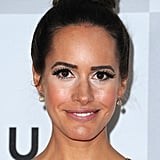 Louise Roe wore a high bun.
