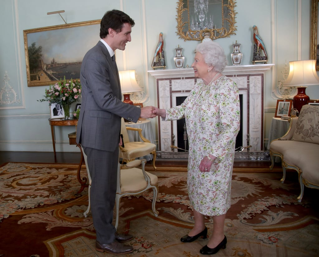 """Justin Trudeau is nearly a foot taller than the queen at 6'2""""."""