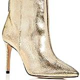 Schutz Women's Ginny Crackled Leather High Heel Booties