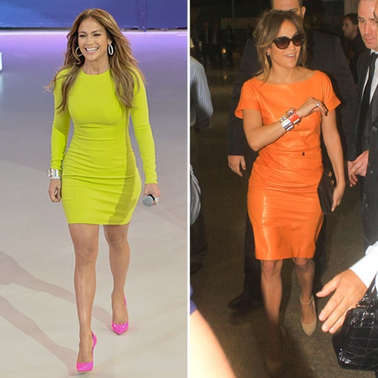 Jennifer Lopez in Bright Colors in Brazil Pictures