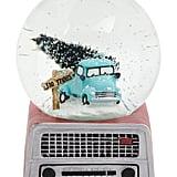 Truck on Red Radio Base Musical Snow Globe