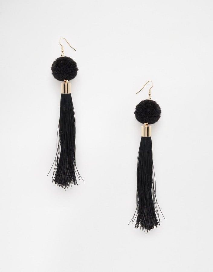 ASOS Nikou Pom Tassel Earrings ($13)