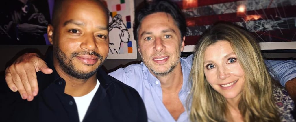 Zach Braff With Donald Faison and Sarah Chalke July 2017