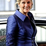 Sophie Countess of Wessex went for Royal blue.