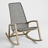 Gray Nautical Rope Rapallo Outdoor Rocking Chair