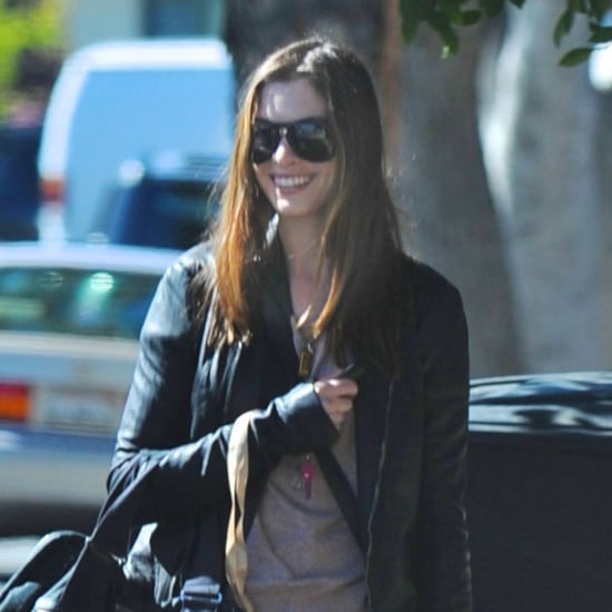 Pictures of Anne Hathaway Visiting the Gym in Beverly Hills