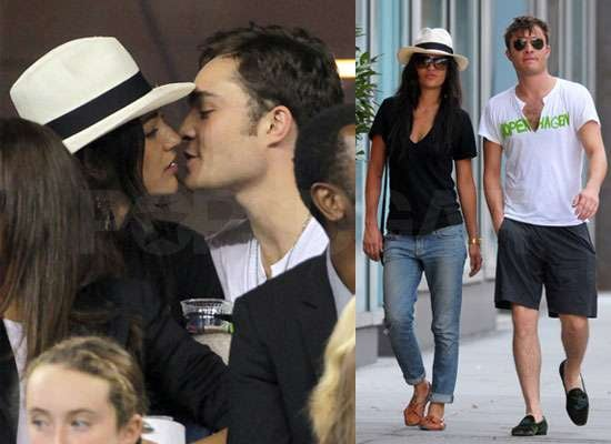 Pictures of Ed Westwick Kissing Jessica Szohr