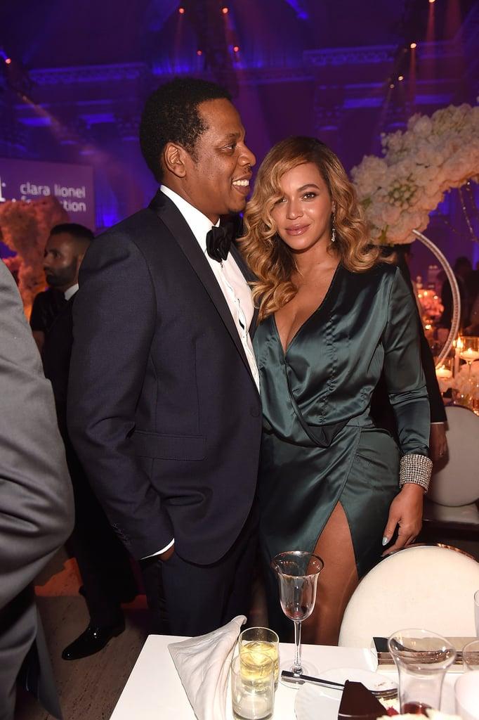 Beyonce's Green House of CB Dress at Diamond Ball 2017