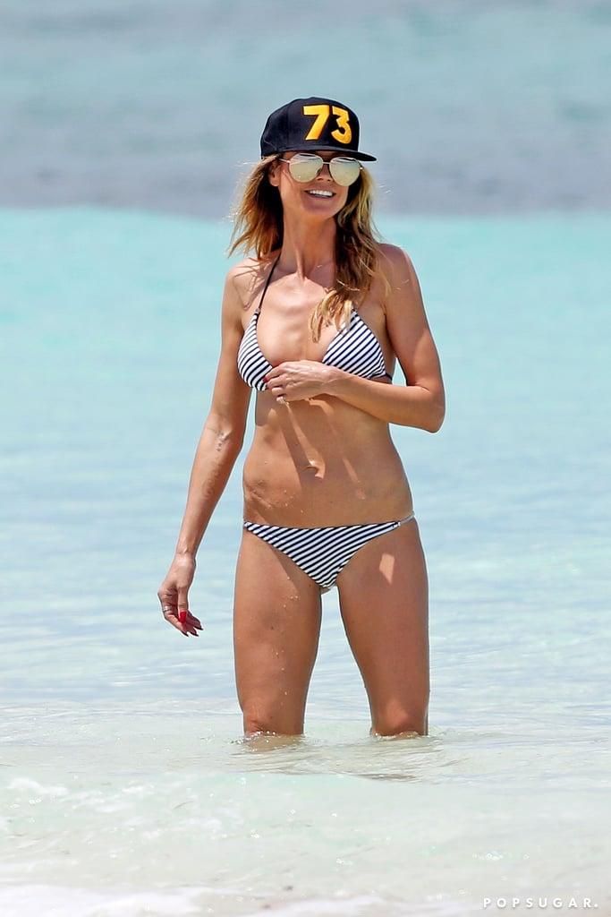 Heidi Klum presumió sus curvas y mostró lo más hot de