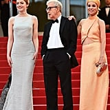 Emma Stone, Woody Allen, and Parker Posey
