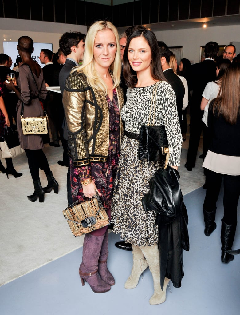 Keren Craig and Georgina Chapman at the Bornfree campaign press announcement.