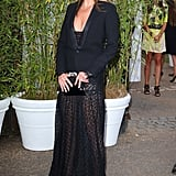 At the Serpentine Summer party in 2013, Kate added a modest touch to her racy lace gown by adding a tuxedo jacket over the top.