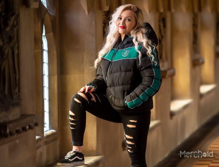 Premium Slytherin Padded Jacket