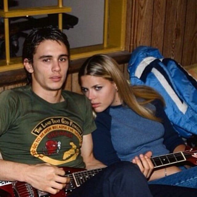 """On Saturday, Busy Philipps shared a throwback photo showing James Franco holding a guitar, writing, """"Happy Birthday to my buddy @jamesfrancotv!! We've known each other 15 years & a million different lives. XOXO.""""  Source: Instagram user busyphilipps"""