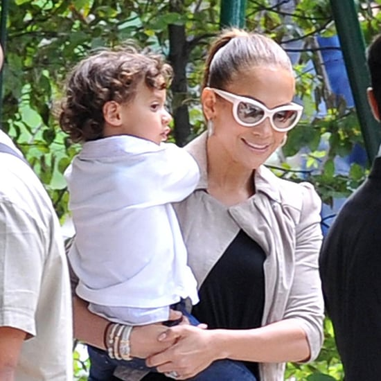 Jennifer Lopez Takes Max and Emme to a Paris Park With Grandma
