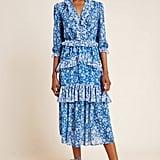 ML Monique Lhuillier Ruffled Maxi Dress