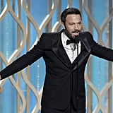 Ben Affleck was excited about his win.