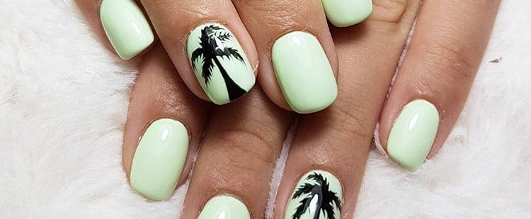 Palm Tree Nail Art Ideas