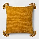 OH Saffron Chunky Woven Tassel Euro Dec Pillow