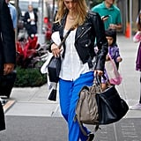 Jessica Alba wore a pair of flats in NYC.