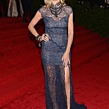 Heidi Klum Goes See-Through in a Sexy Lace Gown at the Met Gala