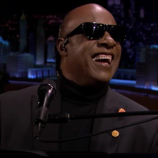 Stevie Wonder Singing to Michelle Obama on Tonight Show 2017