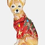 Glass Chihuahua Ornament
